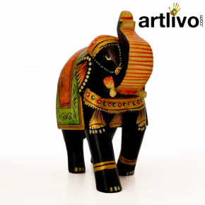 Wooden Elephant Statue - ST089