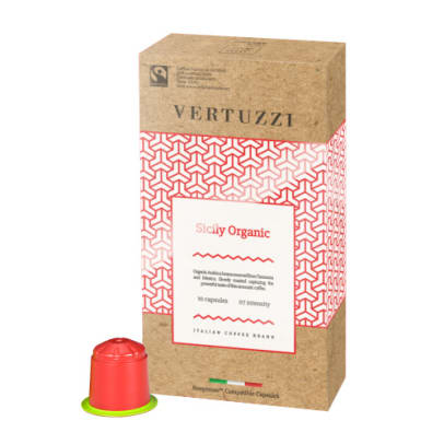 Vertuzzi Sicily Organic package and capsule for Nespresso®