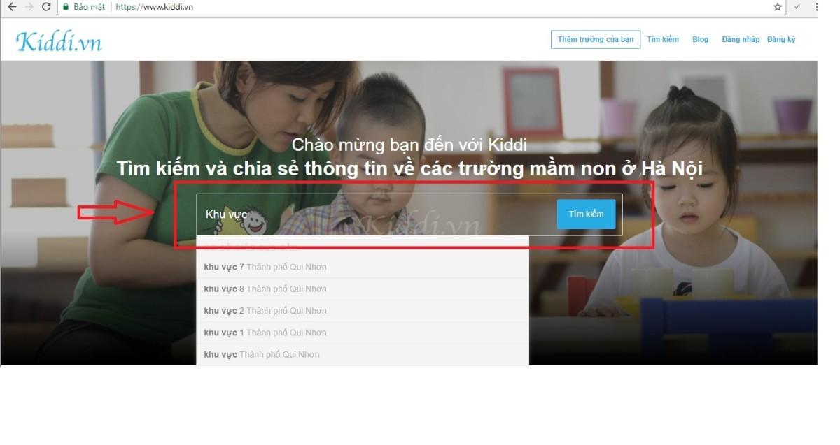 """Hướng dẫn gửi """"Tin nhắn"""" cho các trường trên Kiddi.vn"""