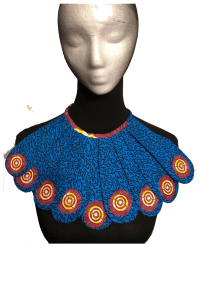 Ankara-African breastplate necklace