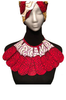 Ankara-African breastplate necklace with matching scarf