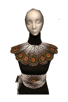 Set Bib and Belt, African print