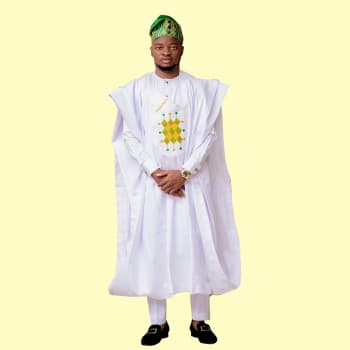 Cossly Men White Agbada