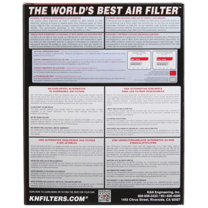 e-2380 FILTRO ARIA FILTRO FILTRO k/&n