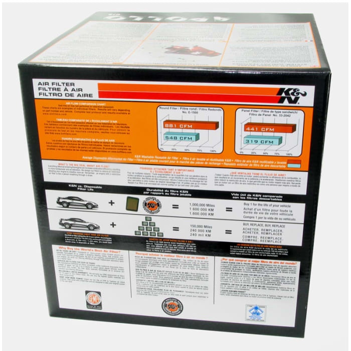 K/&N RC-5052AB Universal Cold Air Intake System