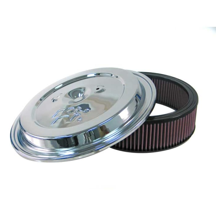 K/&N CE-1502 Replacement Air Filter w//Chrome Lid for Late Model Chevy//GMC Truck