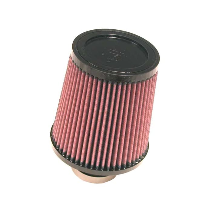 """RED 1989 UNIVERSAL 64mm 2.5/"""" Chrome Top Rubber Bottom AIR INTAKE FILTER"""