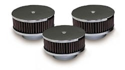 Pontiac Tri-Power Air Cleaners - Chrome