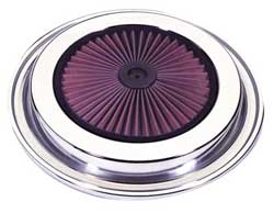 Chrome Air Filter Top