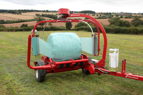 Round Bale Wrappers - Kverneland 7850, easy to use in operation and provides high volume wrapping operations