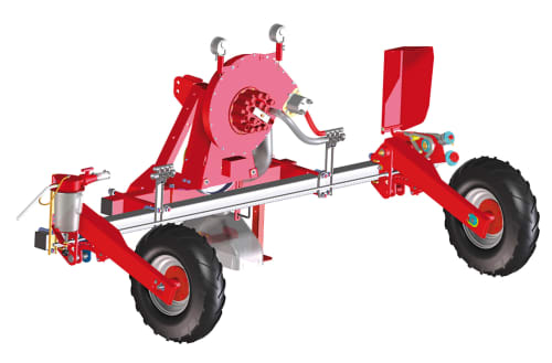 Kverneland Miniair Nova, seeding heart, sowing unit, frame and seed coulters
