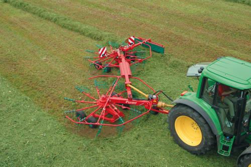Double rotor rakes - Kverneland 9471 S EVO - 9471 S VARIO, flexible double rake for optimal flexibility