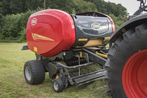 Fixed Chamber round balers - VICON RF 4225, maximal capacity in all crop conditions, the system ensures maximal bale rotation