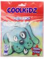 Blue dog in package kids gel packs Labels4Kids