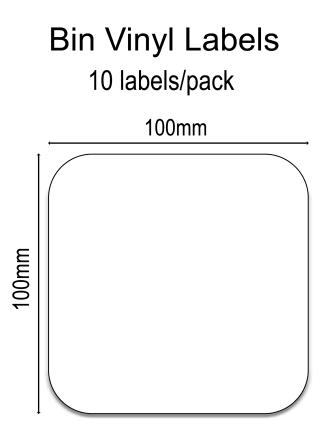 Wheelie Bin Labels