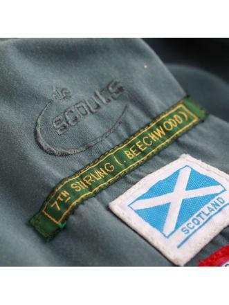 Scouts et guides 12mm étiquette personalisée tissée