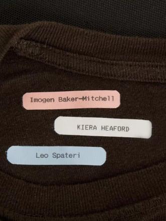 Etiketten für einfaches Aufbügeln