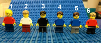 LEGO® Anneaux de clés personnalisés mini-figurines