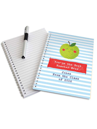 Personalised Apple for Teacher Notebook