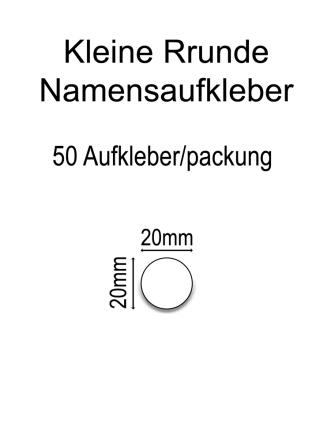 Runde Vinylaufkleber (klein)