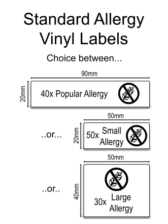 Personalised Allergy Labels