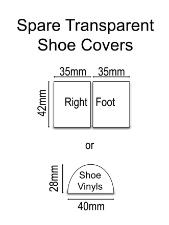 Spare Transparent Shoe Overlays