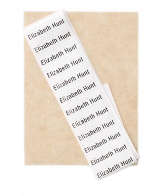 Etiquetas Blancas Personalizadas para Planchar