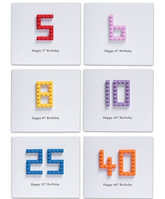Personalised LEGO® Birthday Cards