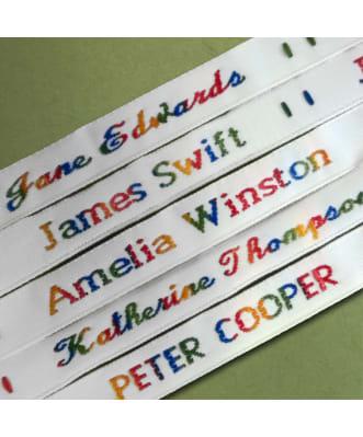 Etichette da cucire arcobaleno