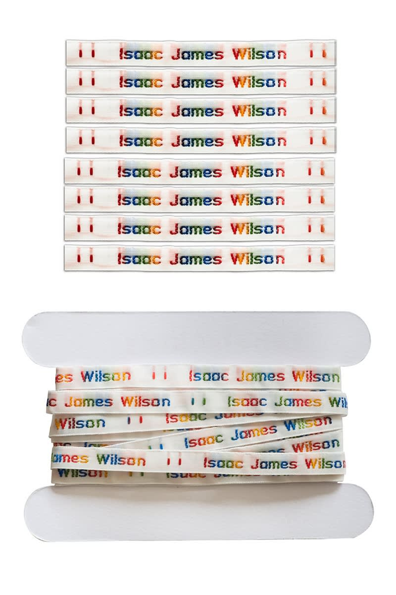 Rainbow Sew On Name Labels