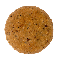 An individual baked biscuit.
