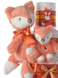 Fox and friend plush baby toy