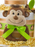 Smiling Monkey Plush Baby Rattle Toy