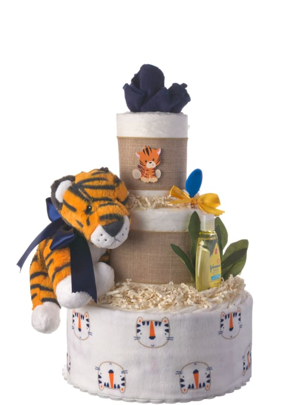 A Lil Tiger Baby Diaper Cake for Boys
