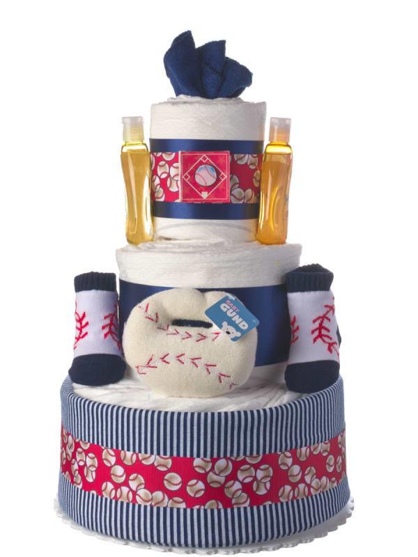 Baseball Diaper Cake for Boys