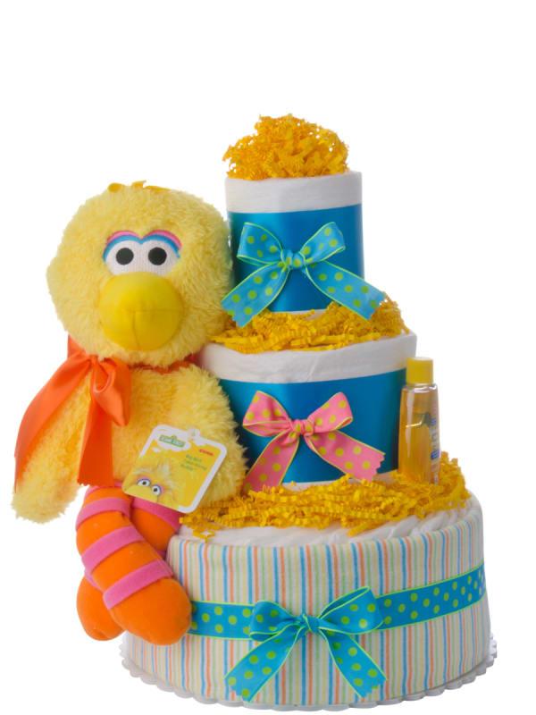 Big Bird Neutral Diaper Cake