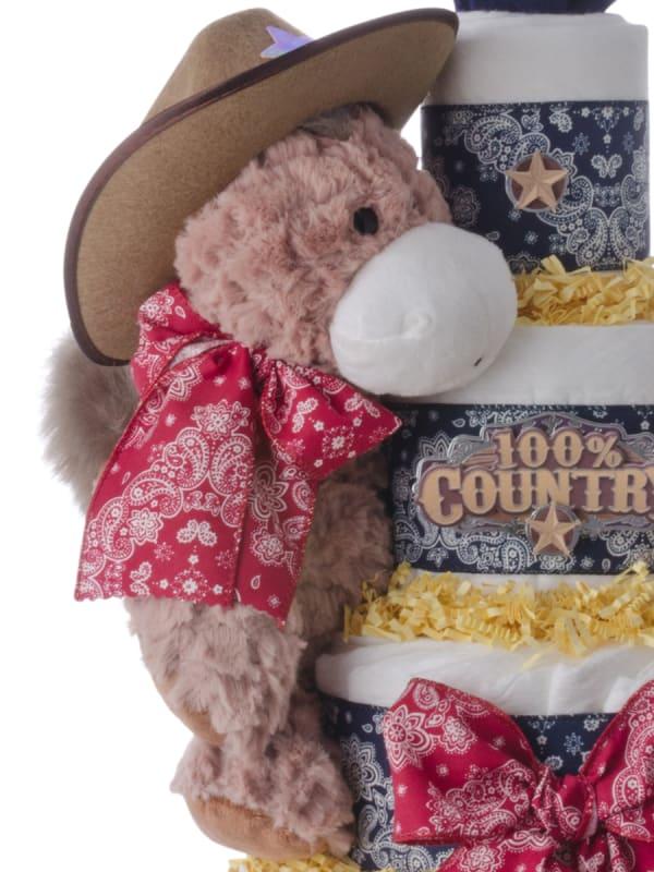 Lil' Western Cowboy Diaper Cake