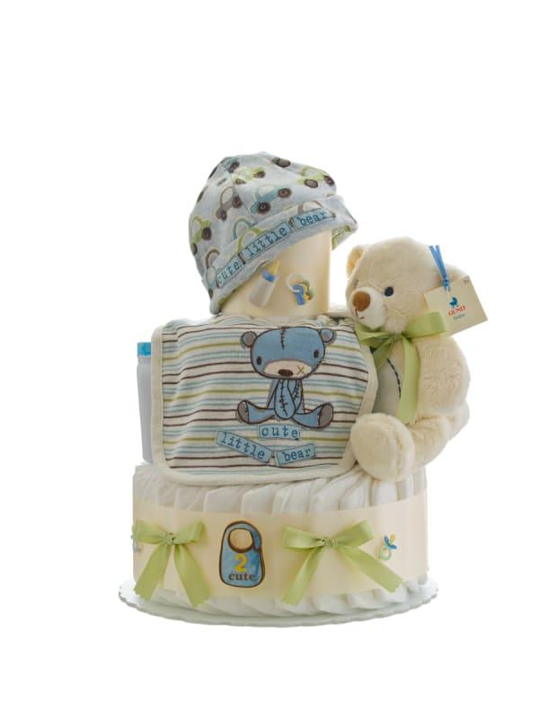 Cute Little Bear Boy 3 Tier Diaper Cake
