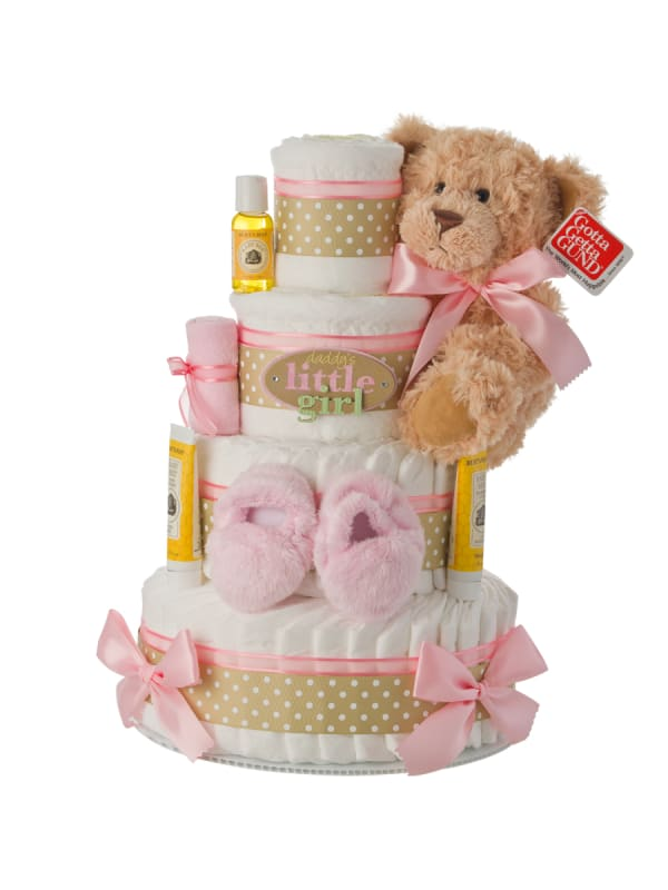 Daddy's Little Girl 4 Tier Diaper Cake