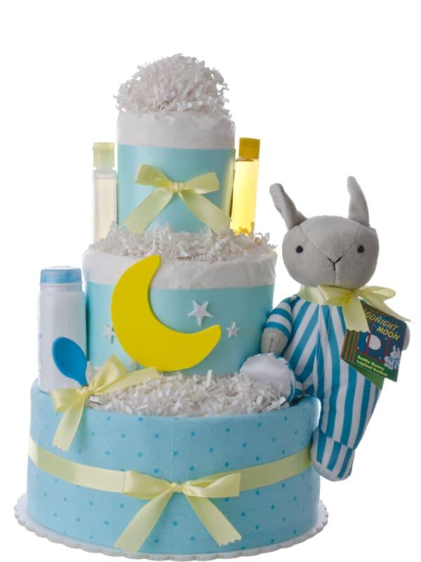 Goodnight Moon Rabbit Baby Shower Diaper Cake
