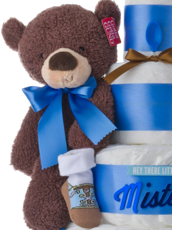 Hey There Lil Mister Diaper Cake for Boys