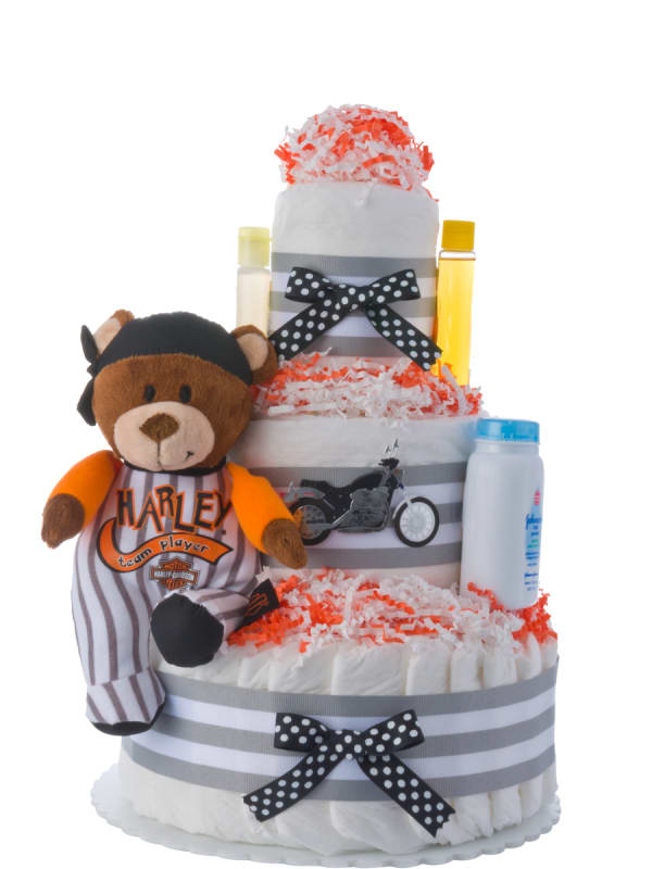 Lil' Harley Rider Diaper Cake for Boys