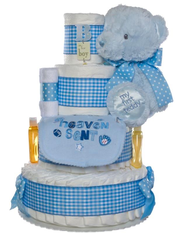 Heaven Sent Diaper Cake for Boys