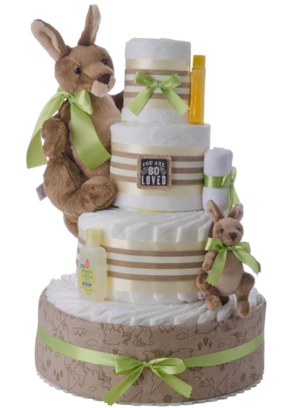 Kangaroo Love 4 Tier Baby Diaper Cake