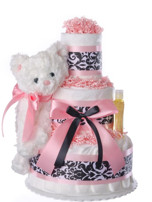 Lil' Kitty Cat Diaper Cake