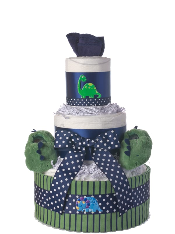 Lil' Dino Baby Diaper Cake