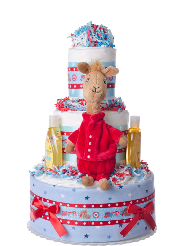 Llama Llama Baby Boy Diaper Cake and Book