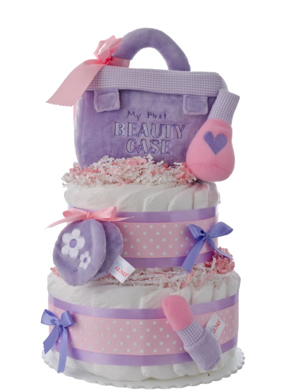 My First Beauty Case Baby Diaper Cake