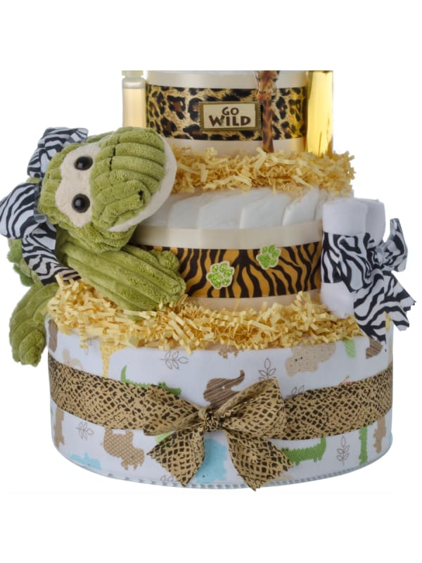 My Jungle Friends 4 Tier Diaper Cake