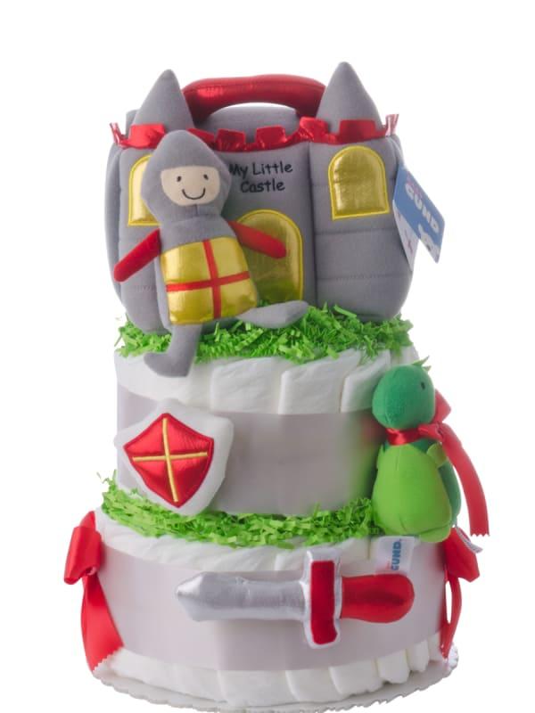 Little Castle Baby Diaper Cake for Boy